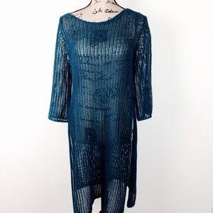 Eileen Fisher Open Knit Tunic M @